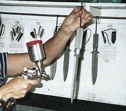 варианты обработки поверхности клинка ножа