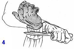 боевой нож при освобождении от захватов и уходе от болевых фиксаций