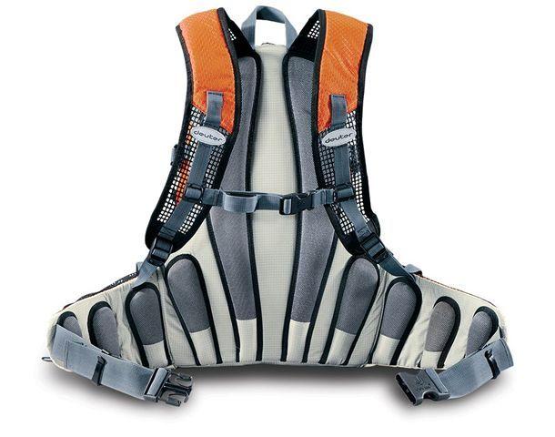 Поясная сумка для различных видов спорта современного дизайна с встроенными набедренными подушками.