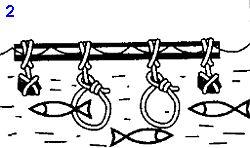 Рыбалка на море и ловля рыбыс помощью петель