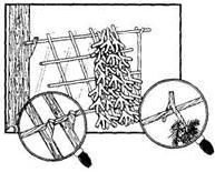 простейший двускатный шалаш