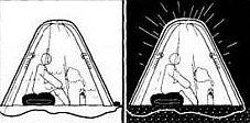 Ночевка без убежищ для потерпевших бедствие в аварийной или экстремальной ситуации
