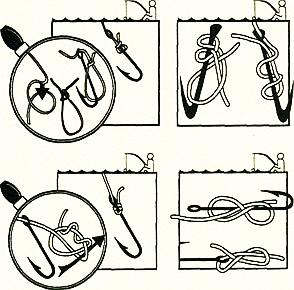 как привязать крючок