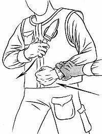 извлечение боевого ножа