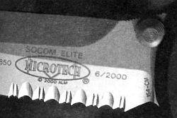 волнообразная заточка и зубья на клинке ножа