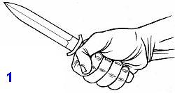 атакующие действия боевым ножом в ближнем бою