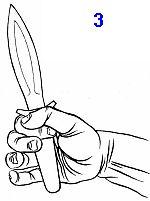 нож все время будет вырываться