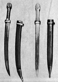 кинжал кривой солдатский,  кинжал-бебут образца 1907 г