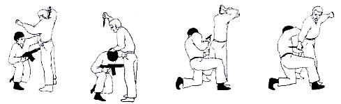 Способы поверхностного осмотра и обыска задержанного в положении стоя, на коленях и лежа