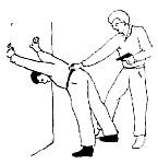 Осмотр и обыск задержанного в положении стоя у стены