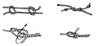 Для связывания веревкой применяется петля набросом или различные варианты двойной затягивающейся петли