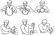 При связывании брючным ремнем используется не растягивающаяся петля