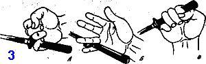 хват используется в основном для колющих ударов