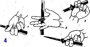 перевод кинжала в хвате с центральным внутренним положением клинка