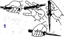 техника перехватов кинжала и ножа