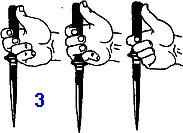 прямой удар с переводом кинжала и ножа