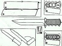 В аварийно-спасательные наборы предпочтительны ножи из нержавеющей стали и поворотной ручкой, увеличивающей рабочую длину лезвия