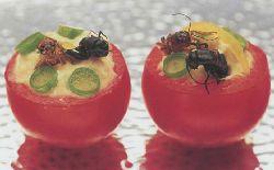 Употребление в пищу мяса мухи, стрекозы и других летающих насекомых, блюда из мух, стрекоз и других летающих насекомых, экстремальная кухня