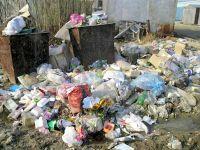 Отбросы из контейнеров с отходами как еда, блюда и питание с помойки, экстремальная кухня