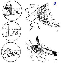 Рыбалка на море с помощью острог и приливных ловушек