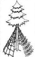 Простейшие укрытия для потерпевших бедствие в тайге и густолесье, строительство навеса, шалаша, адыгейского домика