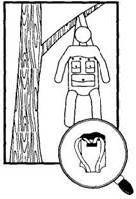 Шалаш-гамак, сидячий гамак, убежище из камыша на болоте в аварийной ситуации для потерпевших бедствие