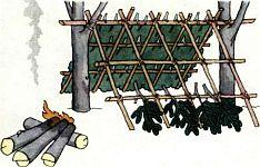 Тренировка в постройке зимнего убежища закрытого типа, последовательность постройки зимнего убежища